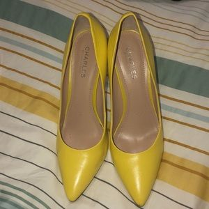 Charles by Charles David Yellow pumps